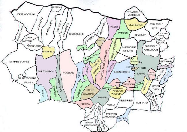 map of north hampshire North Hampshire Tithe Map Project The Parishes map of north hampshire